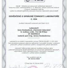 <p>Zde naleznete certifikáty, která naše laboratoř obdržela.</p>
